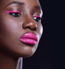 Beautiful  African-American woman. Black Beauty. Young beautiful