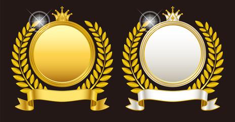 メダル エンブレム 王冠