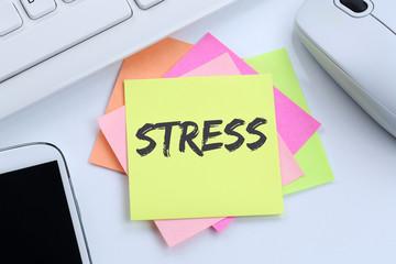 Stress im Job Burnout Entspannung Business Konzept Erschöpfung