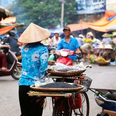 Street vendor, Vietnam, Hanoi. Street Market
