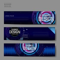 futuristic banner template
