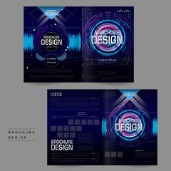 futuristic bi-fold brochure