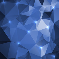 Triangular geometric shapes.