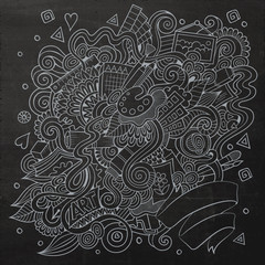 sketchy doodles hand drawn art and craft background
