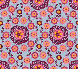 seamless pattern of traditional asian carpet embroidery Suzanne.