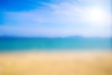 Blurred beach and tropical for summer background