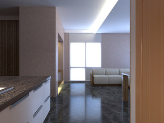 3D-rendering of the interior