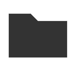 Folder icon. Flat icon of folder. Folder EPS. Vector illustration.