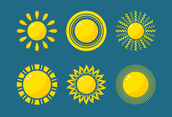 Vector sun icon isolated on background. Sun Vector isolated summer icon design. Vector yellow sun symbol. Vector sun sun element. Sun weather icon vector sun logo isolated sign symbol
