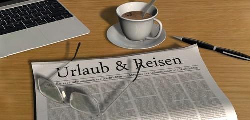 Zeitung auf Schreibtisch - Urlaub & Reisen