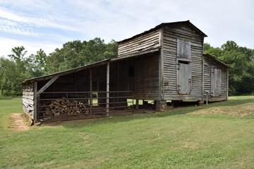 vintage rustic barn shed background