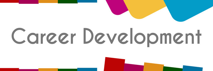 Career Development Colorful Abstract Stripes