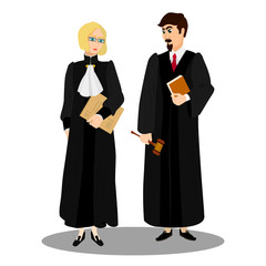 Judges in professional robes