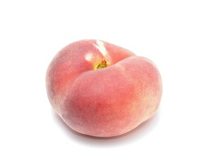 donut peach isolated on white background
