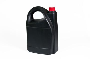 Black plastic jerrycan