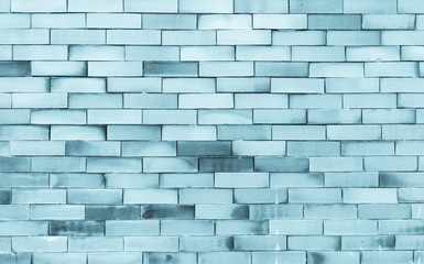 Abstract background of blue tone brick wall