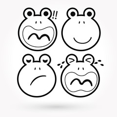Frog vector icon and animal