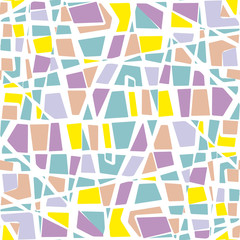 abstract stone wall seamless vector pattern. mosaic pastel color