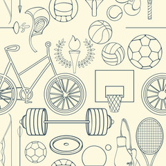 Seamless sport pattern