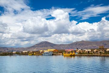 Garden Poster Palermo Totora boat on the Titicaca lake near Puno, Peru
