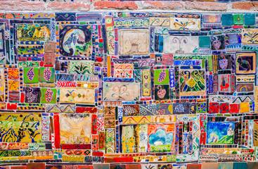 The tiled mural