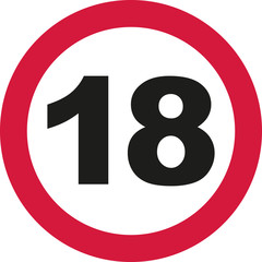 18th Birthday - traffic sign