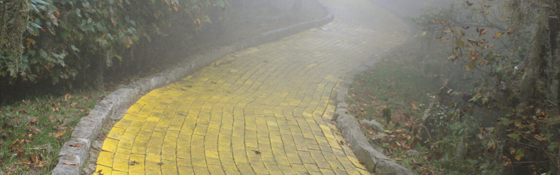 Yellow brick road background banner-Proportionate to Large Mobile Banner