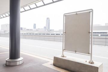 Blank Billboard in the airport
