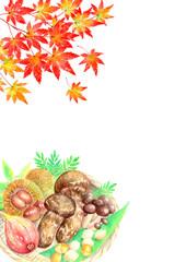 秋の味覚_紅葉_背景