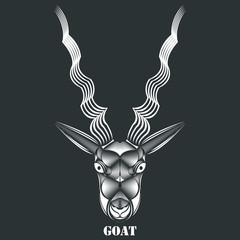 Animal Vector, Animal Illustration, Animal, Animal Head, Animal Face, goat