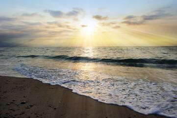 Ocean Sunset Rays