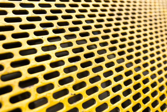 Abstract background of yellow metal