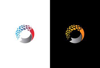 round 3D data technology logo