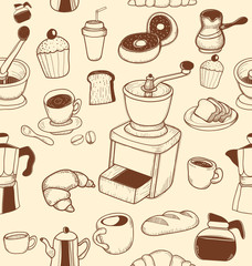 doodle coffee pattern [Converted]