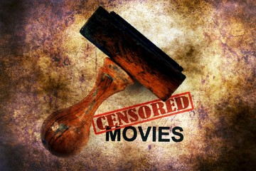 Censored movies grunge concept