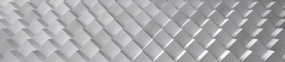 Aluminum Cubes Background (Website Head) - 3D Illustration