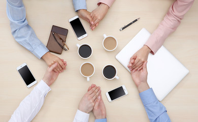 Group of people drinking coffee