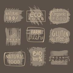 Eco Glute Free Bio Food Grey Logo Set