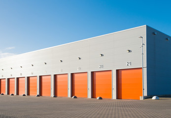 commercial warehouse exterior