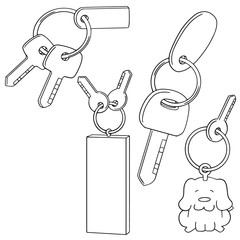 vector set of keychain
