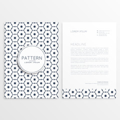 business flyer letterhead template with pattern design