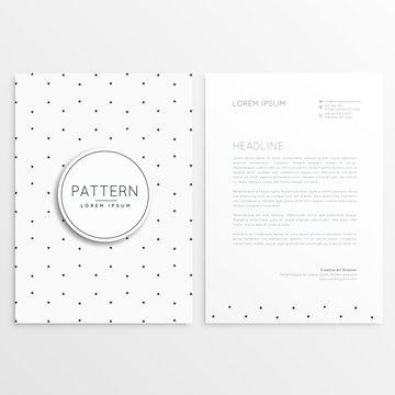 clean minimal letterhead template