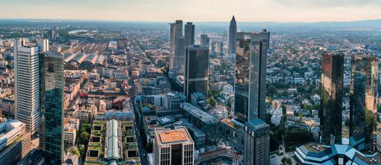 Frankfurt Bankenviertel Fototapete