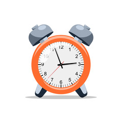 Alarm clock, wake-up time, vector illuastrations