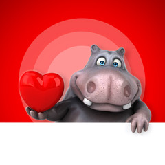 Fun hippo