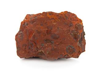 Piece of bauxite (aluminium ore) isolated on white background