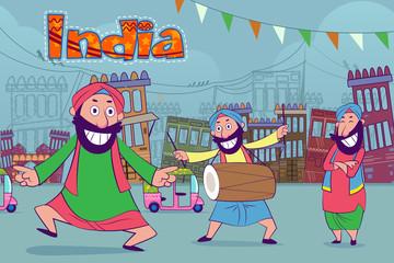 Happy punjabi india