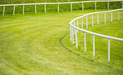 railing turn on horse race track