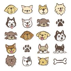 犬のイラスト アイコンセット
