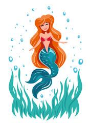 Mermaid fairy tale marine character